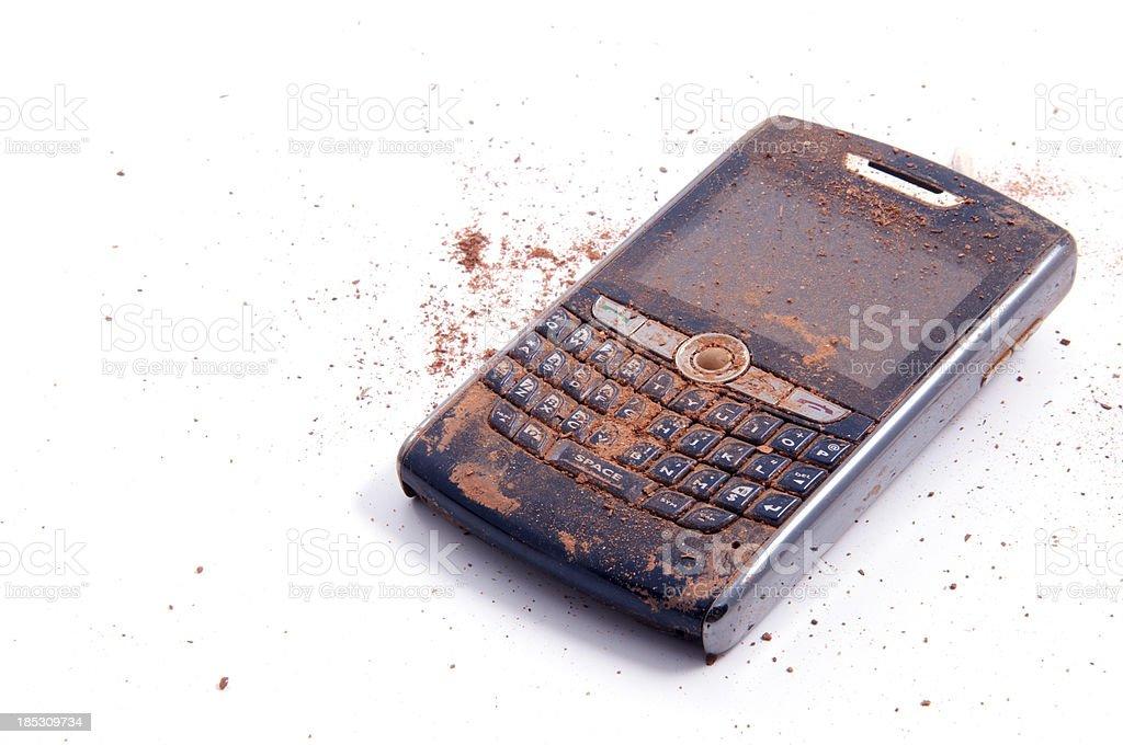 Ruined Smartphone stock photo
