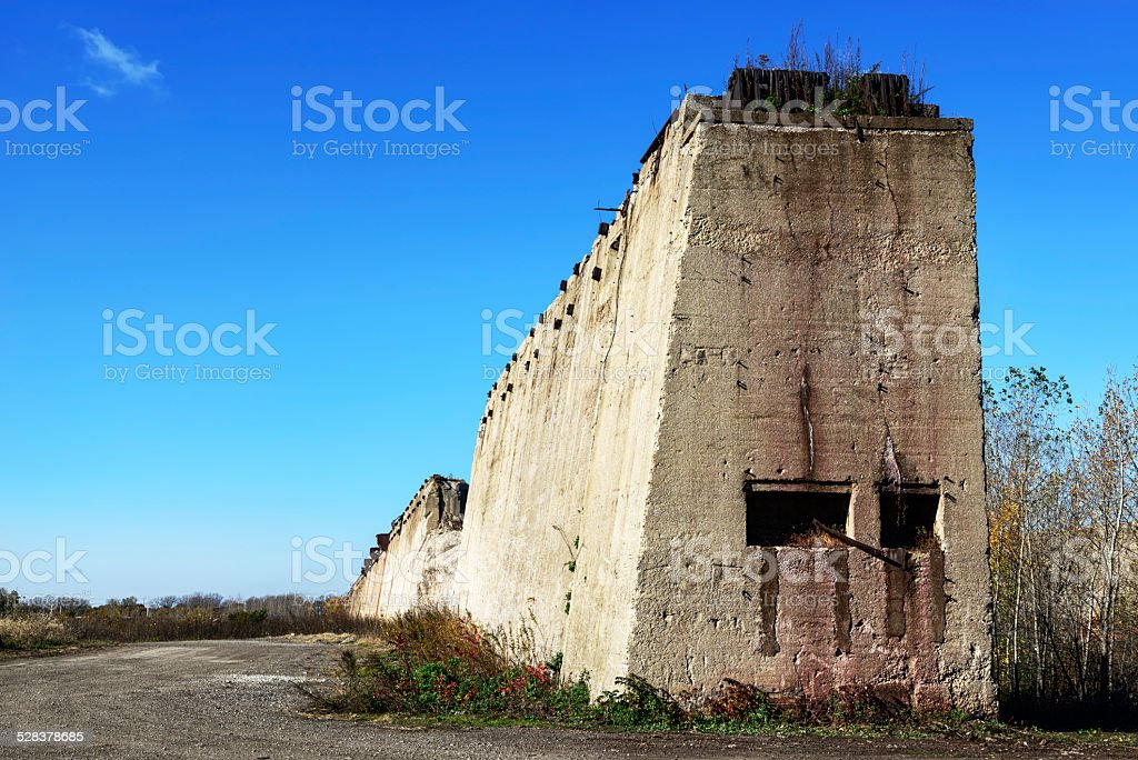 Ruined Steel  plant, South Chicago stock photo