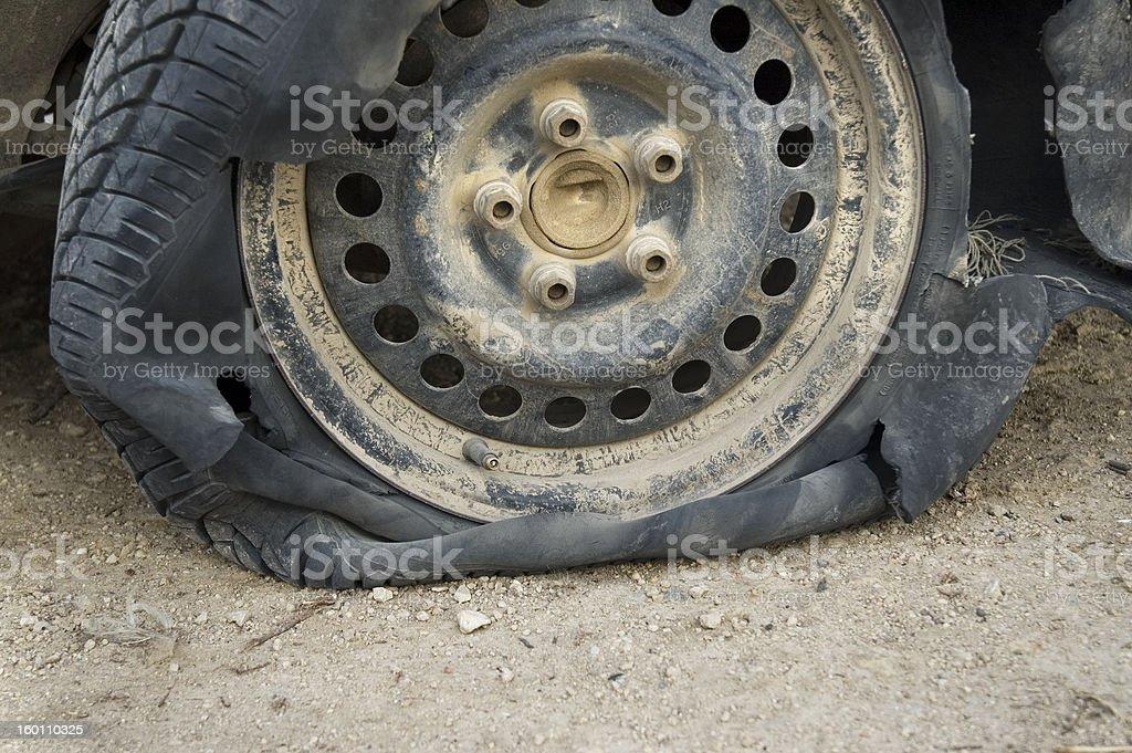 Ruined Tire stock photo