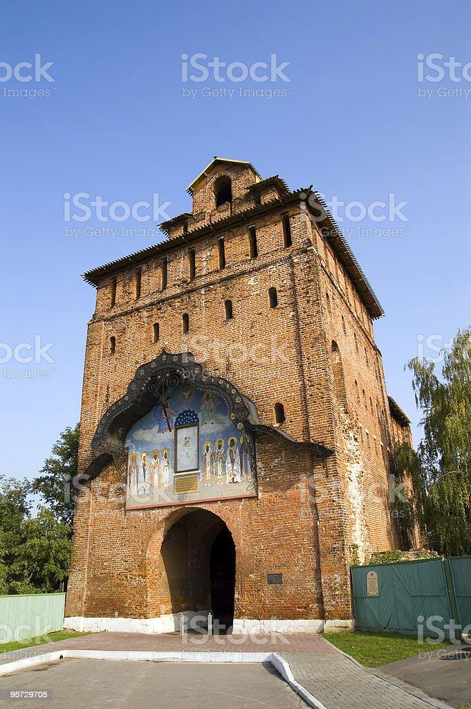 Ruined tower stock photo
