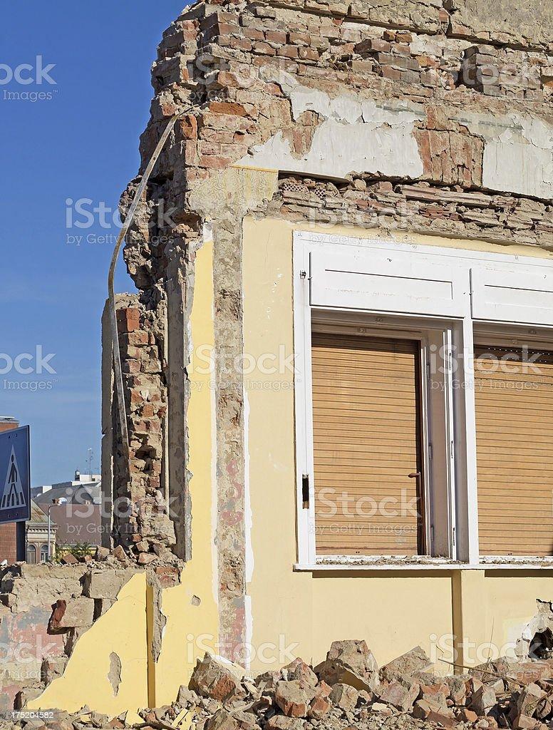 ruined wall royalty-free stock photo