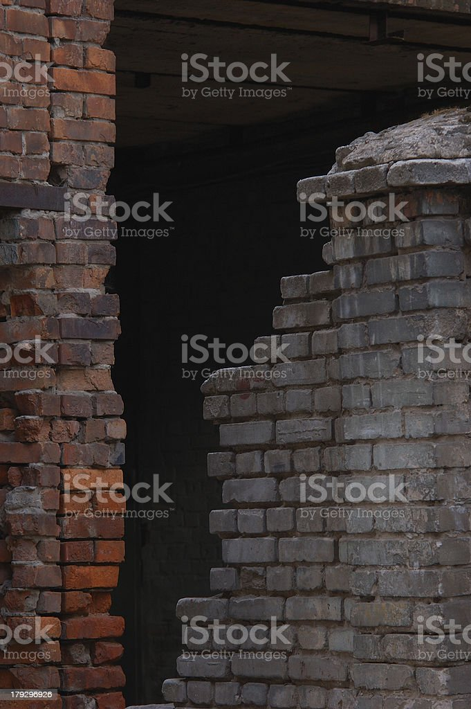 Ruined walls royalty-free stock photo