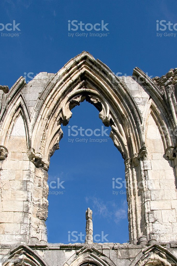 Ruined window royalty-free stock photo