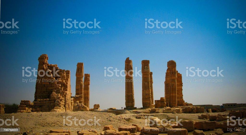 Ruines of Amun temple in Soleb, Sudan stock photo