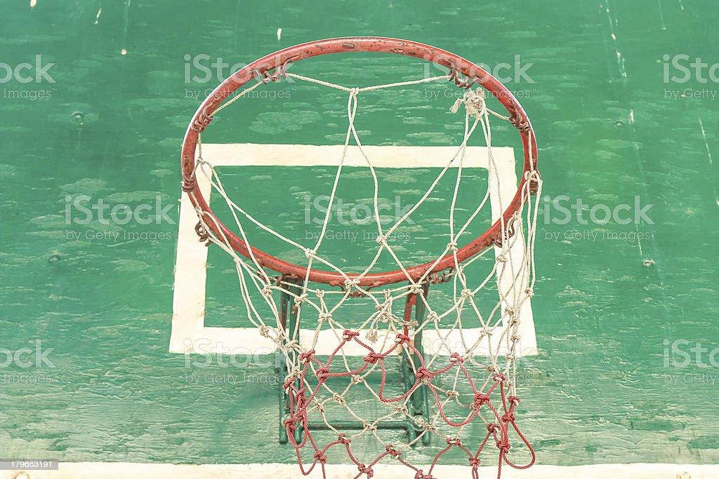 Ruinous Basketball hoop royalty-free stock photo