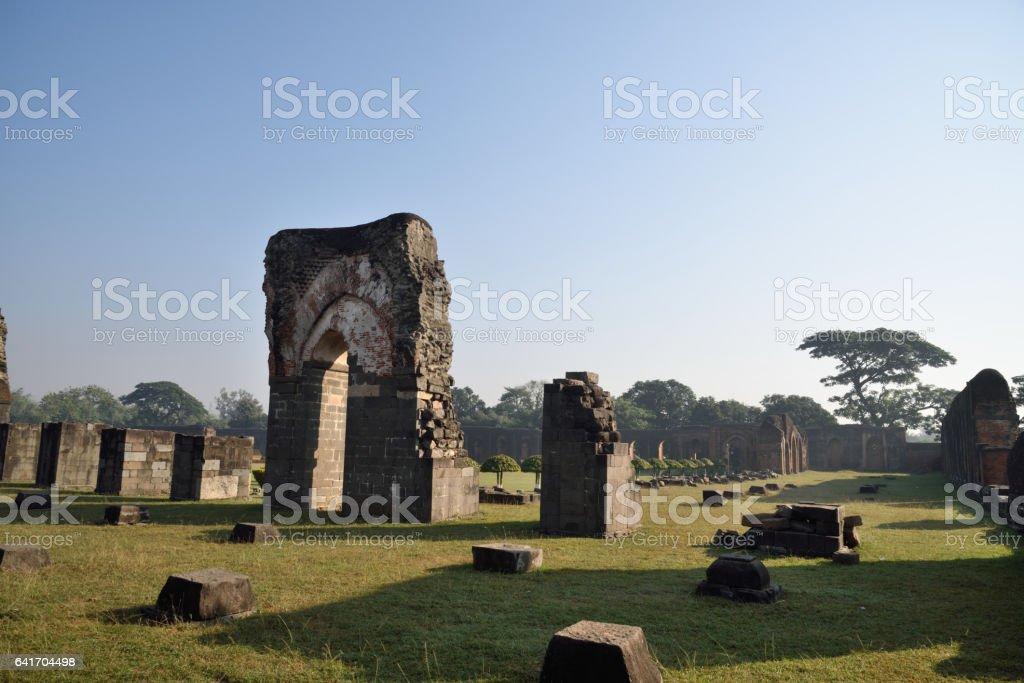 Ruins  Adina Mosque in Malda ,India stock photo