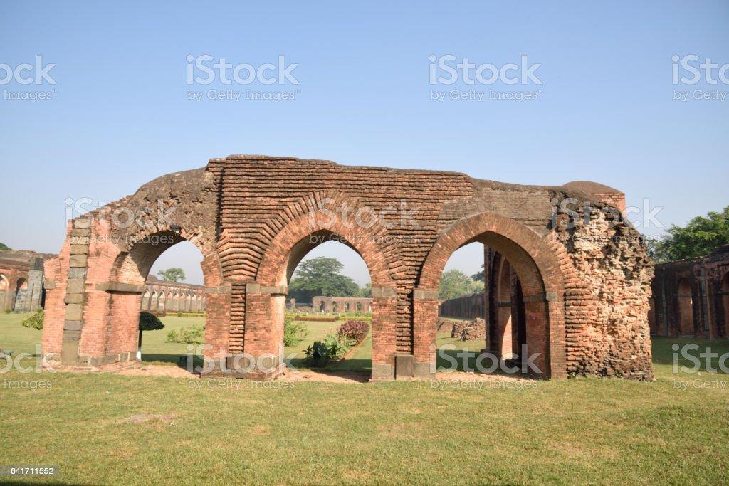 Ruins  Adina Mosque in Malda( Gaur) India stock photo