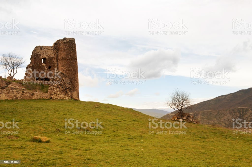 Ruins  ancient church on Georgia stock photo