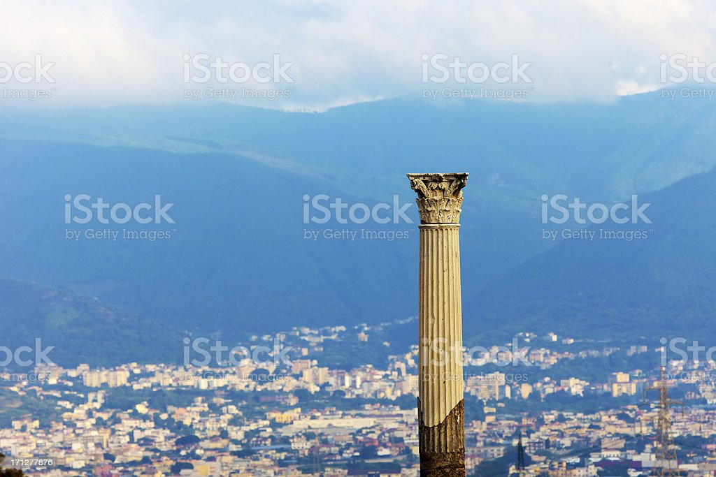 Ruins and reborn of Pompei royalty-free stock photo