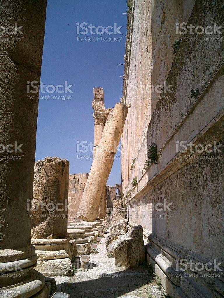 Ruins at Baalbek Lebanon royalty-free stock photo