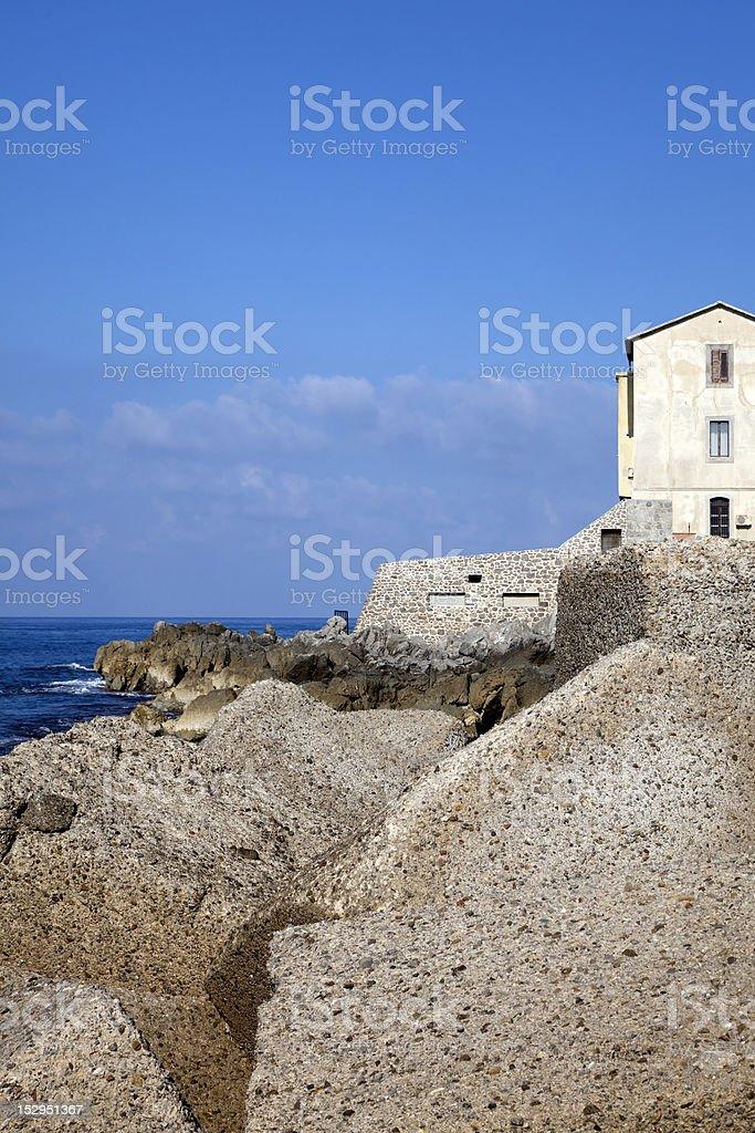 Ruins at Cefalu stock photo