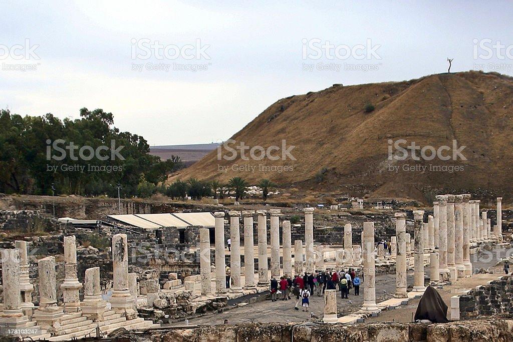 Ruins at Copernium, Israel stock photo