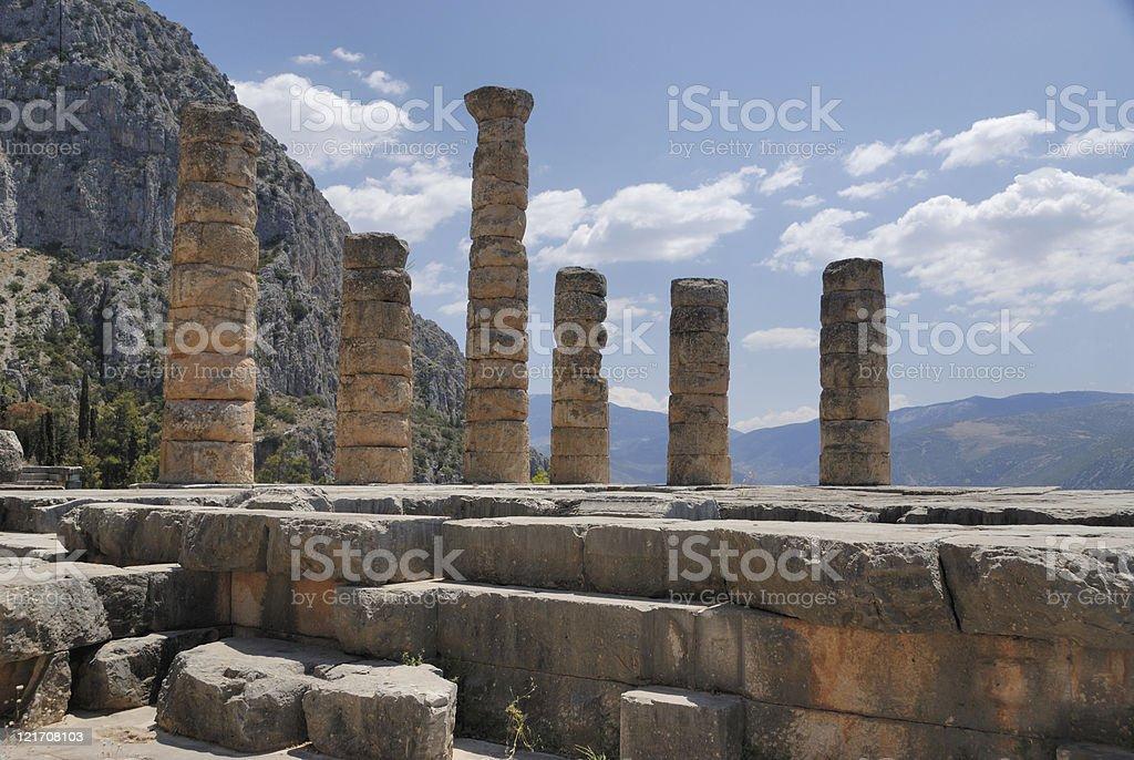 Ruins at Delphi stock photo