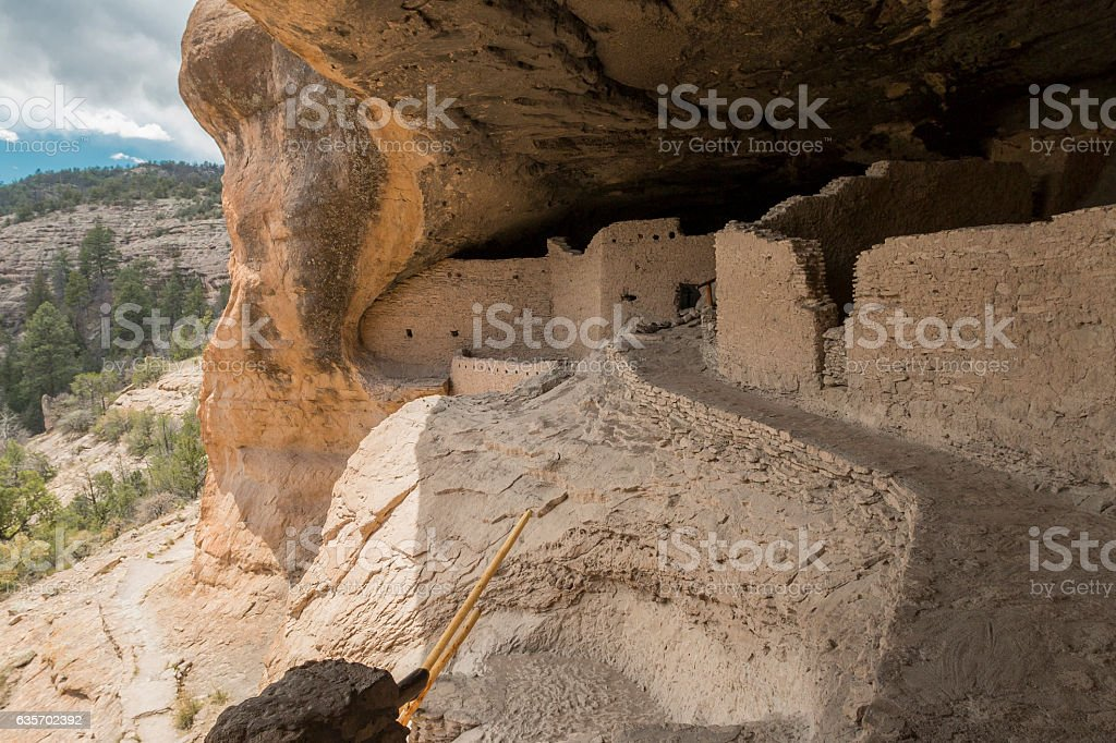 Ruins at Gila Cliff Dwellings National Monument, New Mexico stock photo
