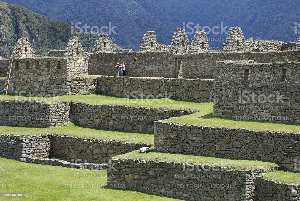 Ruins at Machu Picchu royalty-free stock photo