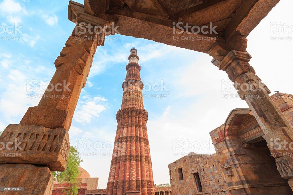 Ruins at Qutub Minar, Delhi stock photo