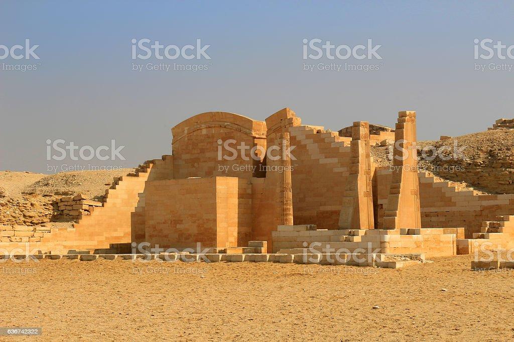 Ruins at Saqqara, Egypt stock photo