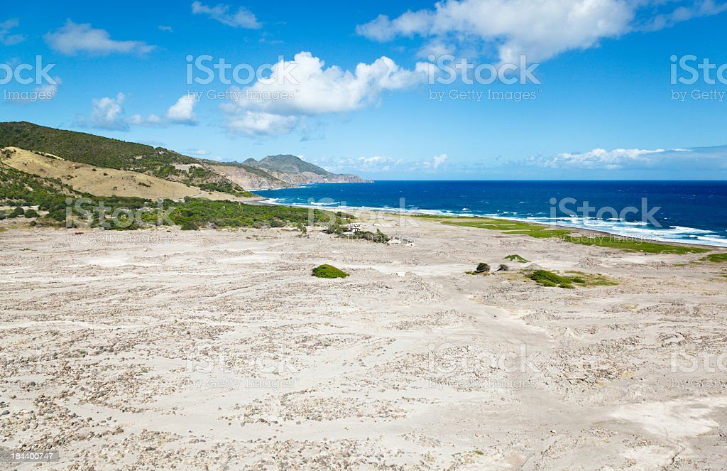 Ruins At Soufriere Hills Volcano, Montserrat royalty-free stock photo