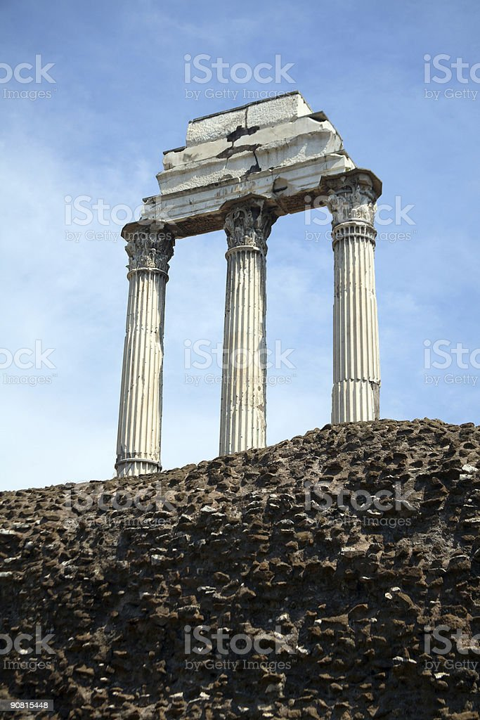 Ruins at the ancient Forum, Rome, Italy royalty-free stock photo