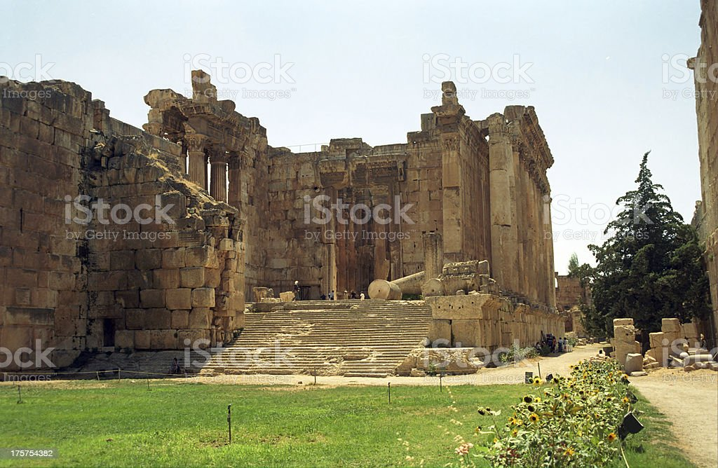 Ruins, Baalbeck, Lebanon stock photo