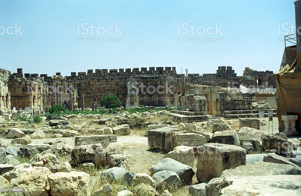 Ruins, Baalbeck, Lebanon royalty-free stock photo