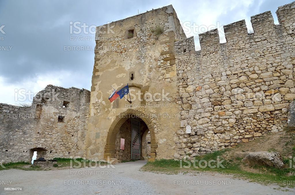 Ruins Castle Spissky Hrad, Slovakia. stock photo