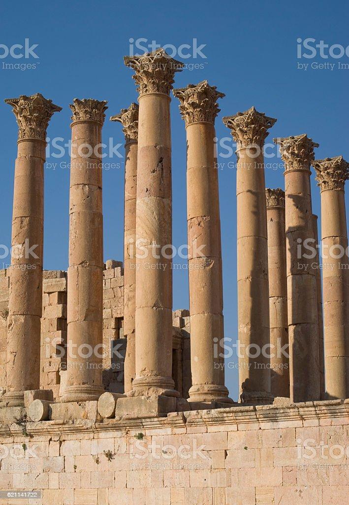 Ruins city of Jerash in Jordan stock photo
