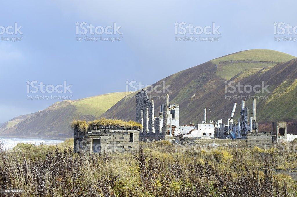 Ruins house in nature royalty-free stock photo