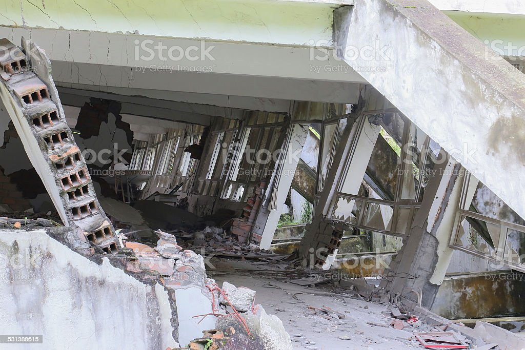 ruins house stock photo