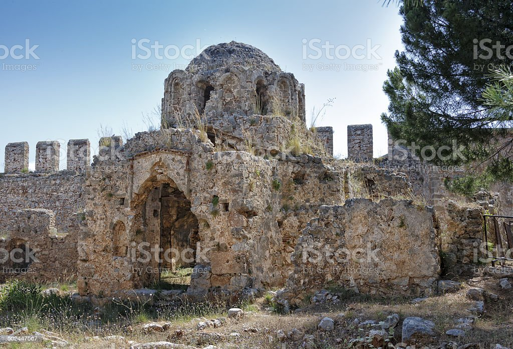 Ruins in Alanya stock photo