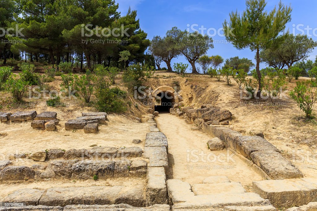 ruins in  Ancient Nemea, Corinthia stock photo