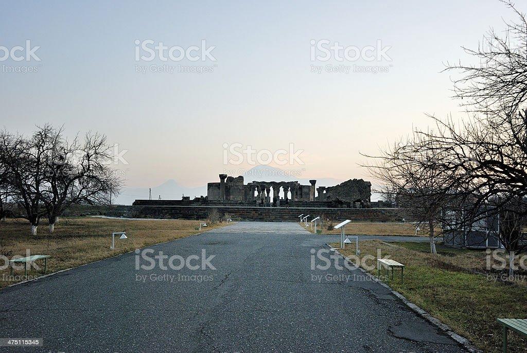 Ruins in Armenia stock photo