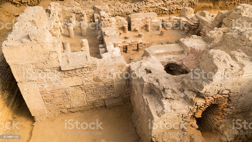 Ruins in Athens, Greece stock photo
