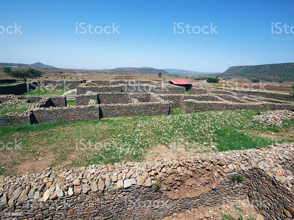 Ruins in Axum stock photo