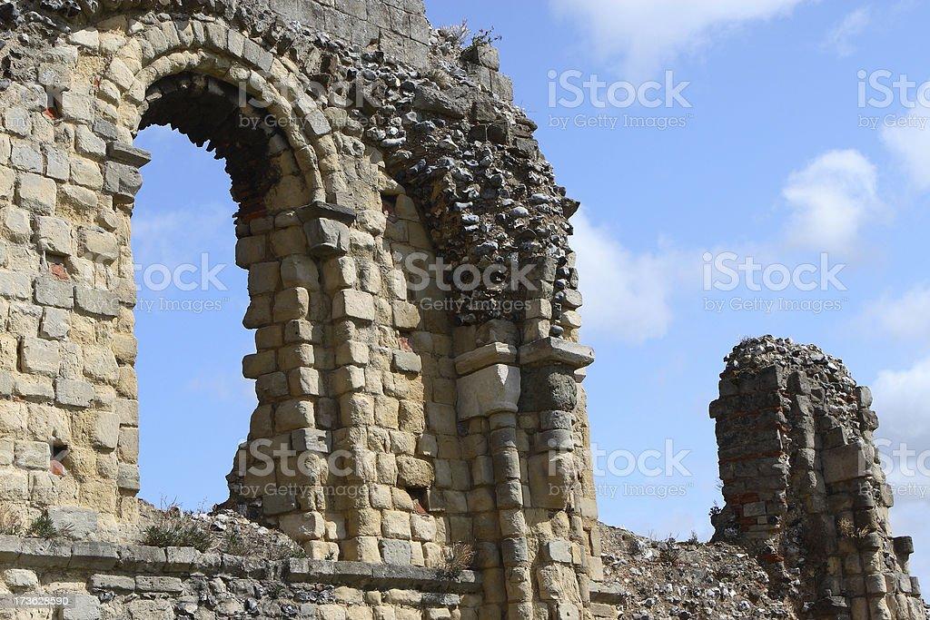 ruins in Canterbury stock photo