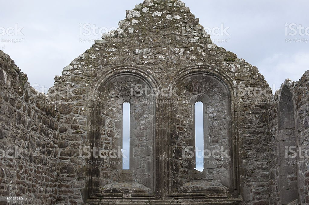 Ruins in Clonmacnoise stock photo