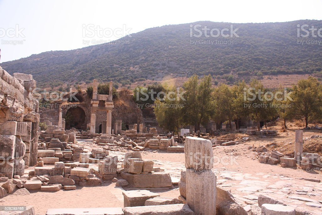 Ruinas en Efeso stock photo