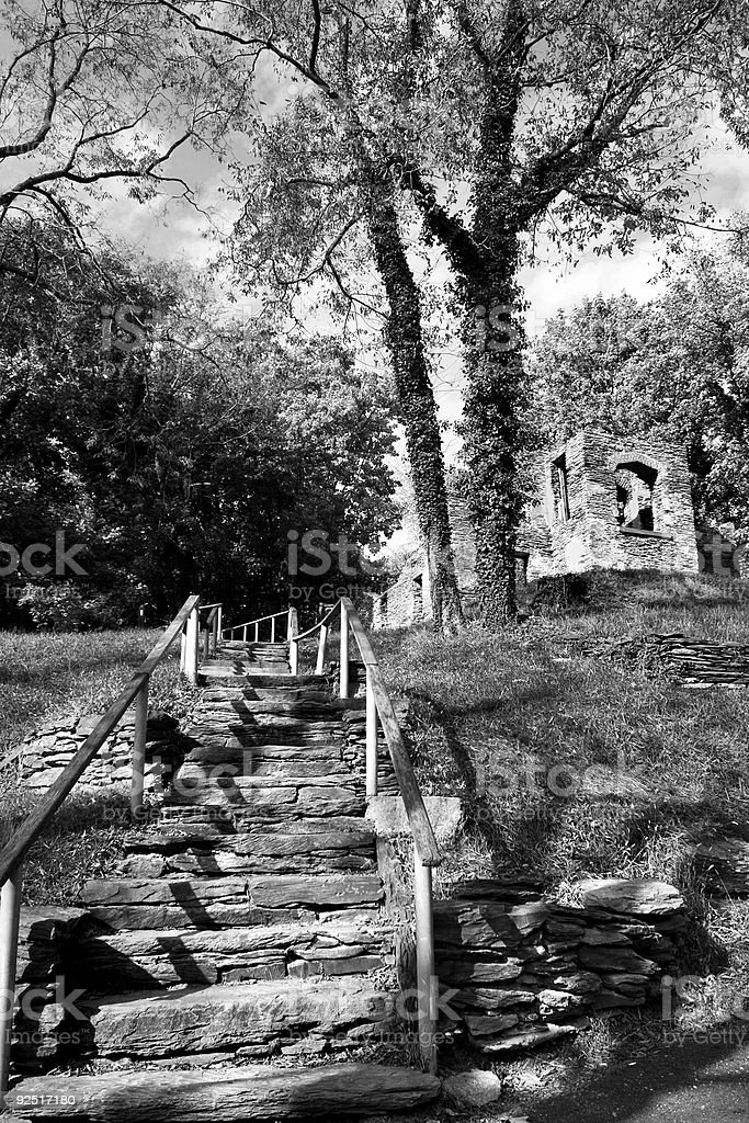 ruins in Harpers Ferry stock photo