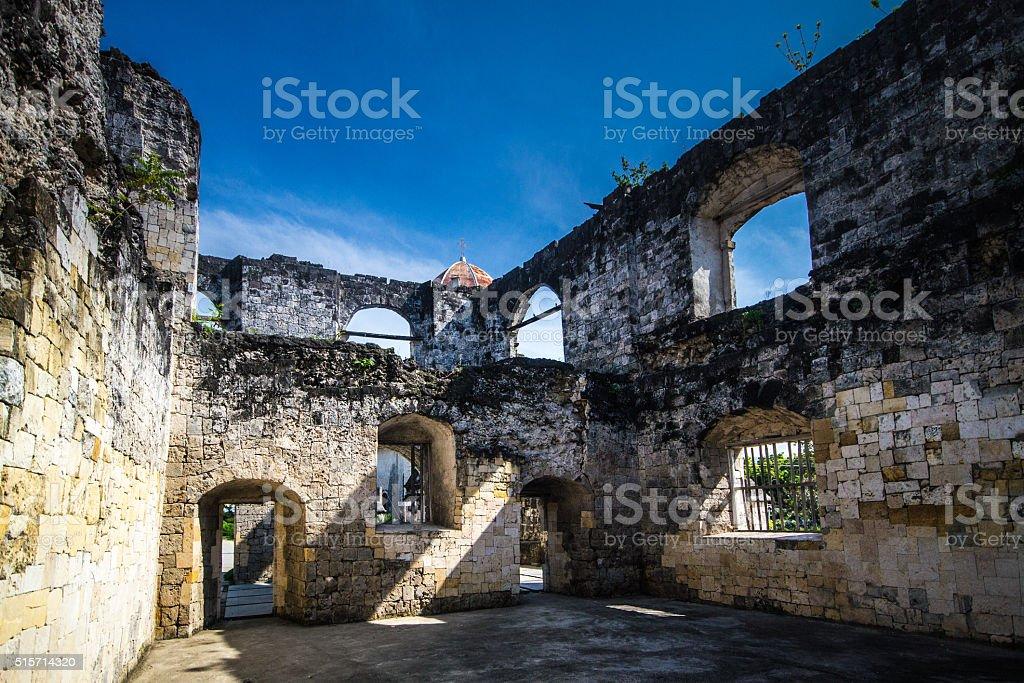 Ruins in Oslob, Cebu, Philippines stock photo