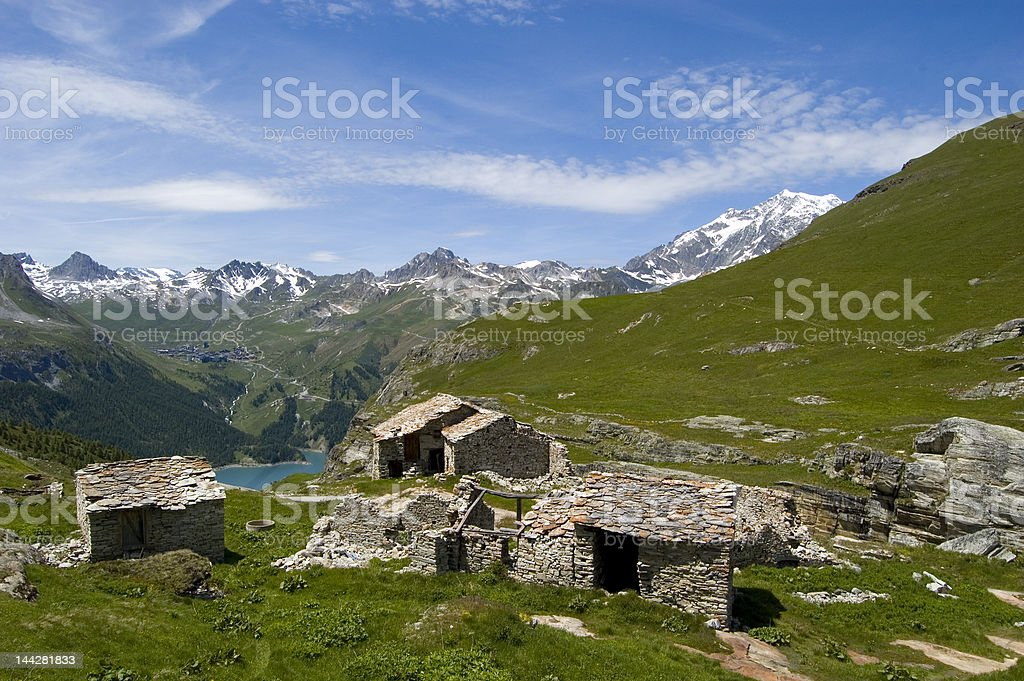 Ruins in Savoie. France royalty-free stock photo