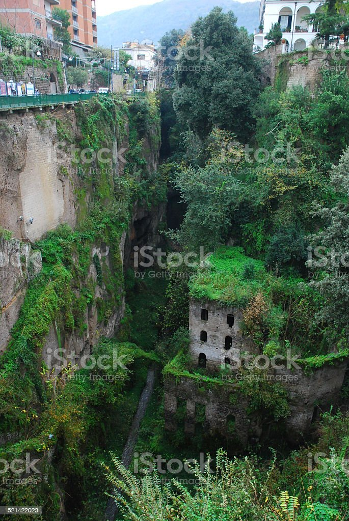 Ruins in Sorrento royalty-free stock photo
