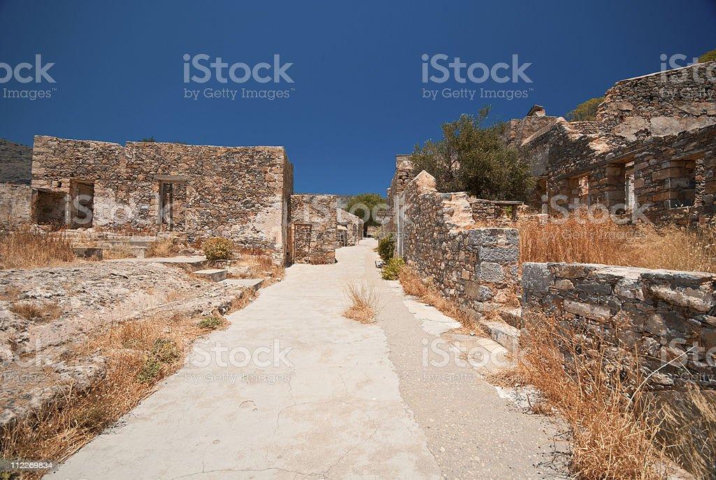 Ruins in Spinalonga royalty-free stock photo