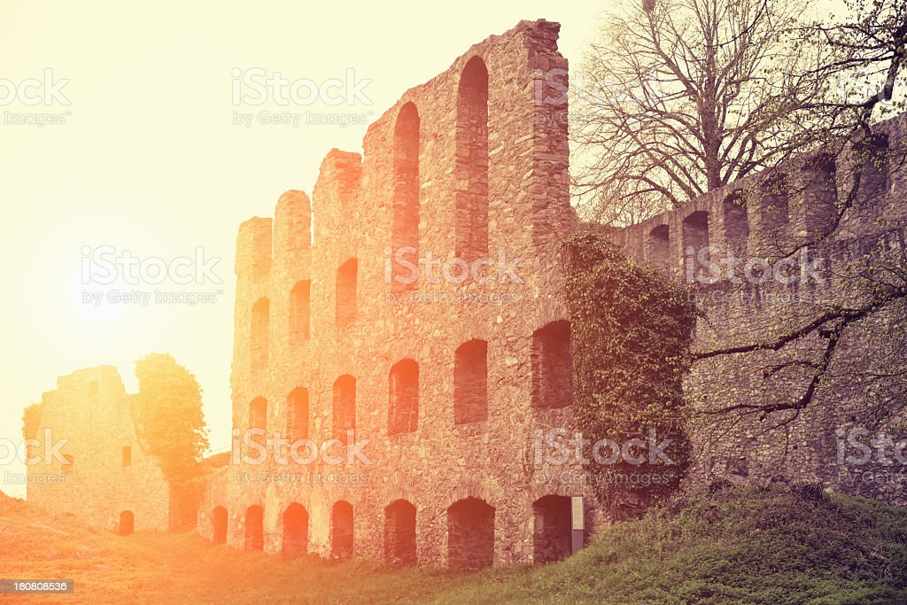 Ruins in sunset royalty-free stock photo