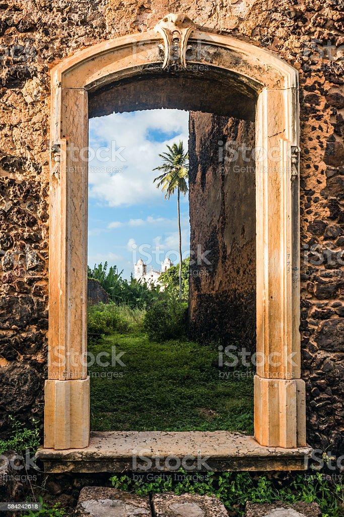 Ruins in the historic city of Alcantara, Brazil stock photo