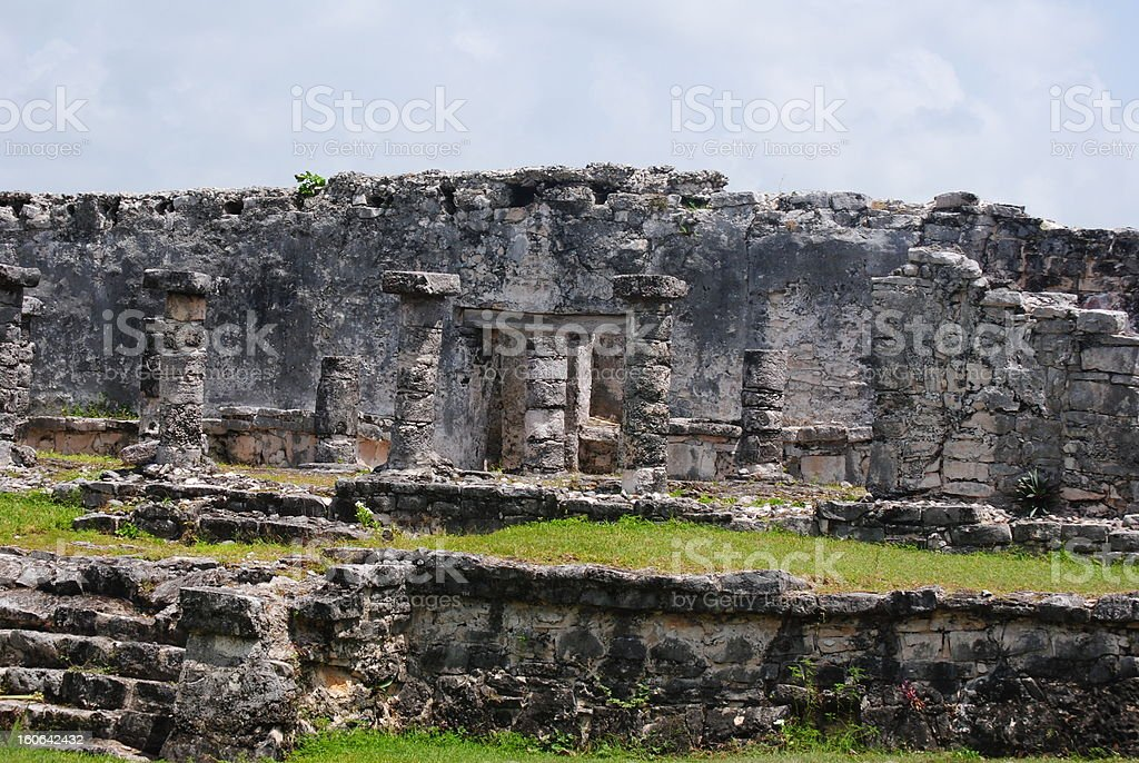 ruins in Tulum royalty-free stock photo