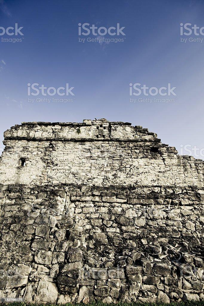 Ruins in Tulum stock photo
