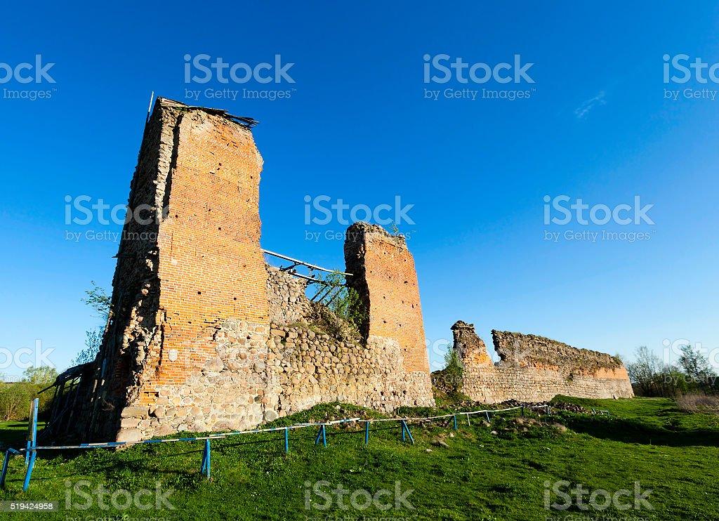 ruins.  Krevo, Belarus. stock photo