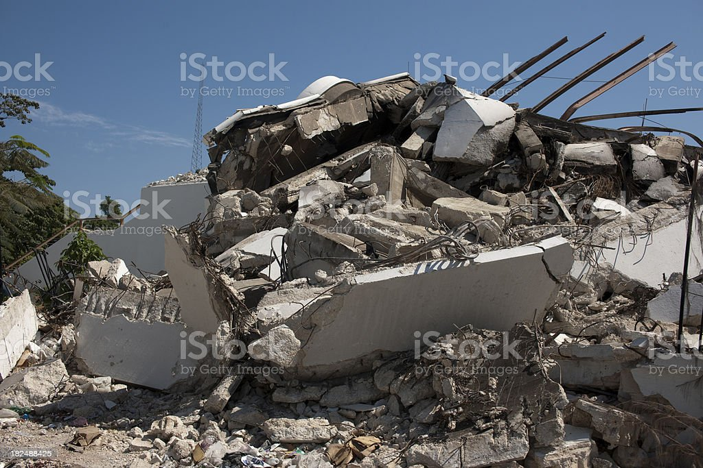Ruins of a goverment building royalty-free stock photo