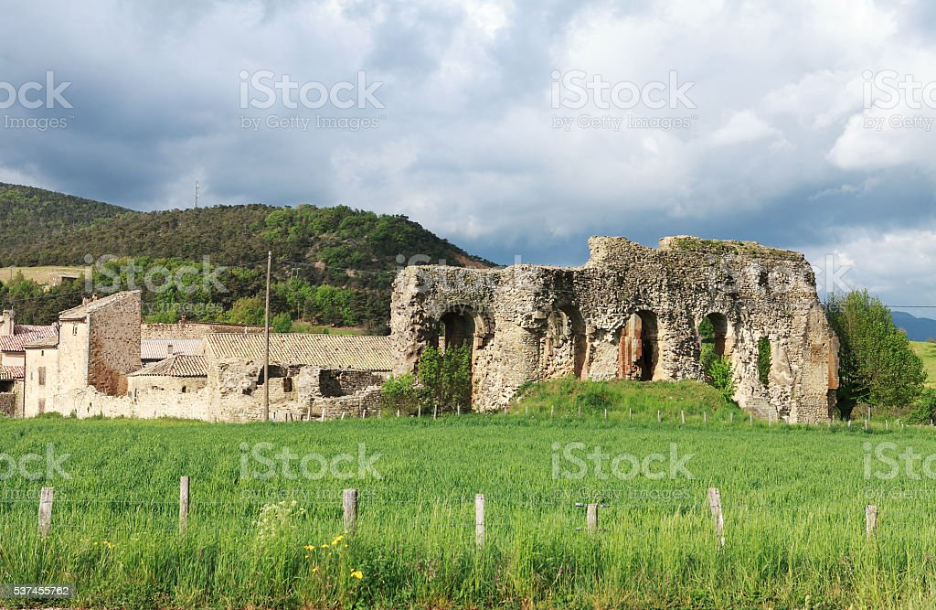 ruins of  abbey stock photo