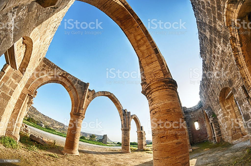 Ruins of Agios Sozomenos royalty-free stock photo